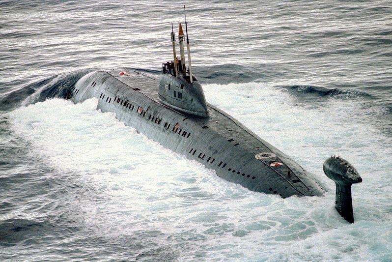 A Russian Viktor III-class submarine. Photo courtesy of U.S. Department of Defense.