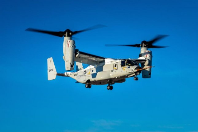 The maiden flight of the first CMV-22B Osprey took place in Amarillo, Texas. Test pilots verified product requirements and airworthiness for the U.S. Navy. Photo courtesy of Bell Boeing