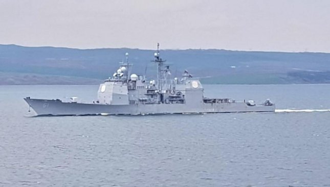 The guided missile cruiser USS Monterey traveled to Romania this week to participate in the Sea Shield 21 naval exercises. Photo courtesy of USS Monterey/Twitter