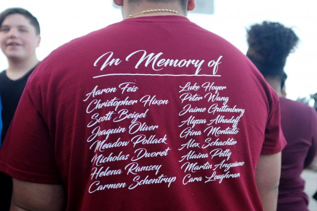 A group of parents and relatives of the victims of the school shooting in Parkland, Florida, launched a nonprofit group Thursday to push for sensible gun laws. File photo by Gary Rothstein/UPI