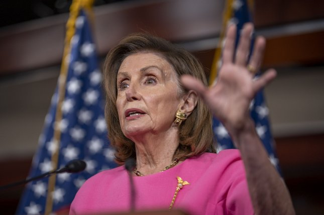 House Speaker Nancy Pelosi, D-Calif., on Sunday said she may delay a vote on a bipartisan infrastructure bill scheduled for Monday stating she is never bringing to the floor a bill that doesn't have the votes.Photo by Ken Cedeno/UPI