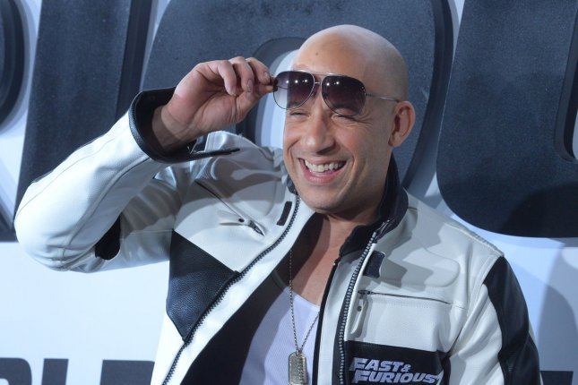 Vin Diesel, shown here attending the premiere of Furious 7 in April, says recently leaked photos of him looking less than in-shape were a weird invasion of privacy, but asserted he's OK with it because he's had the best body in New York City for decades. File Photo by Jim Ruymen/UPI
