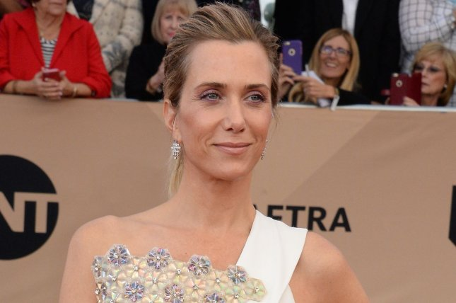 Kristen Wiig attending the 22nd annual Screen Actors Guild Awards on January 30, 2016. Wiig stars alongside Melissa McCarthy, Kate McKinnon and Leslie Jones in the second trailer for Sony's upcoming Ghostbusters reboot. File Photo by Jim Ruymen/UPI