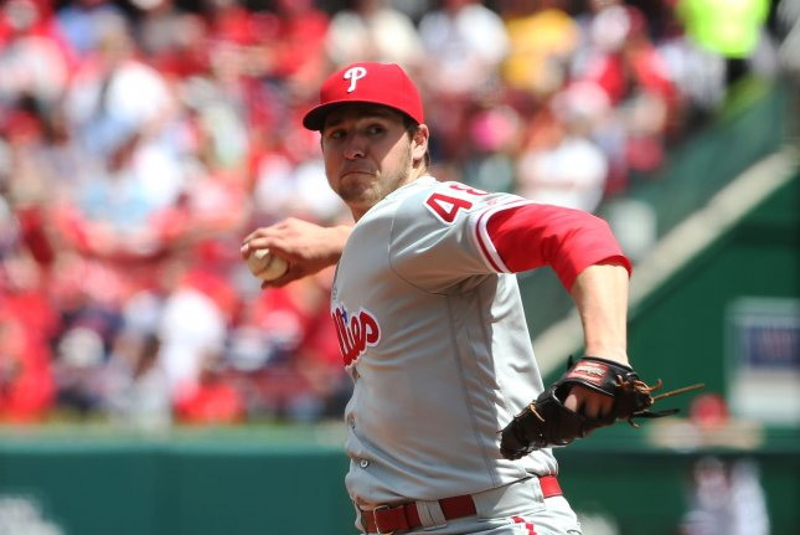 Philadelphia Phillies pitcher Jerad Eickhoff. Photo by Bill Greenblatt/UPI