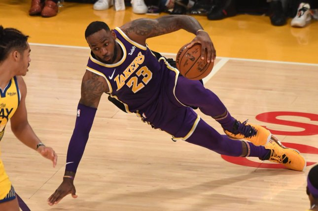 Los Angeles Lakers forward LeBron James had 29 points, 11 assists and five rebounds in a win against the New Orleans Pelicans Wednesday in New Orleans. Photo by Jon SooHoo/UPI