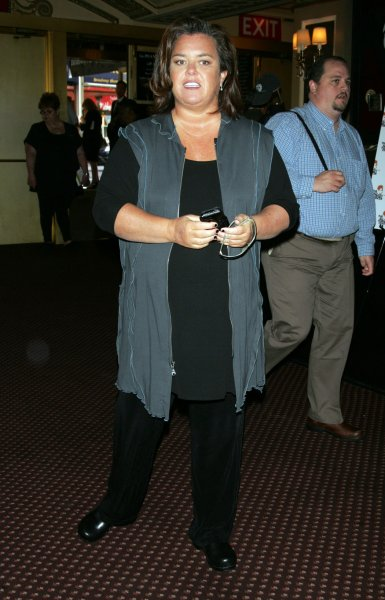 Rosie O'Donnell arrives for the Bea Arthur Memorial Service at the Majestic Theater in New York on September 14, 2009. UPI/Laura Cavanaugh