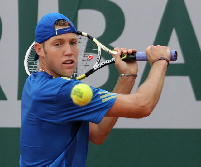 Jack Sock, shown at the 2013 French Open, posted a straight-set win Monday in opening-round play of the ATP's Heineken Open in New Zealand. UPI/David Silpa