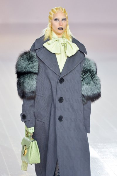 Lady Gaga walks the runway for Marc Jacobs at New York Fashion Week on Thursday. Photo by Andrea Hanks/UPI
