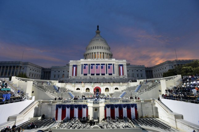 Dawn breaks over the Capitol as America prepares for the inauguration of President-elect Donald Trump on January 20, 2017 in Washington, D.C. Trump becomes the 45th President of the United States. Photo by Pat Benic/UPI