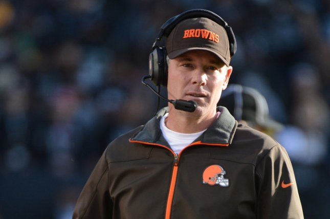 Former Cleveland Browns head coach Pat Shurmur walks the sidelines against the Oakland Raiders at O.co Coliseum in Oakland, California on December 2, 2012. File photo by Terry Schmitt/UPI