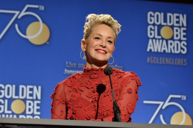 Sharon Stone announces the nominees for the 75th annual Golden Globe Awards at the Beverly Hilton Hotel in Beverly Hills, Calif., on December 11. The actor turns 60 on March 10. File Photo by Jim Ruymen/UPI