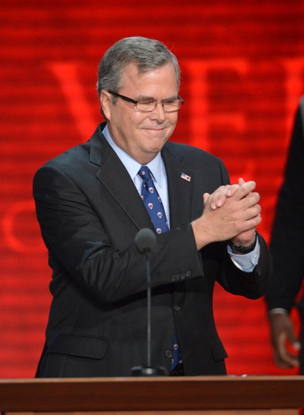 Former Florida Governor Jeb Bush,hown here at the 2012 Republican Convention in Tampa, announced he is resigning from all corporate boards. A spokeswoman said he wants to focus on a possible presidential run. UPI/Kevin Dietsch