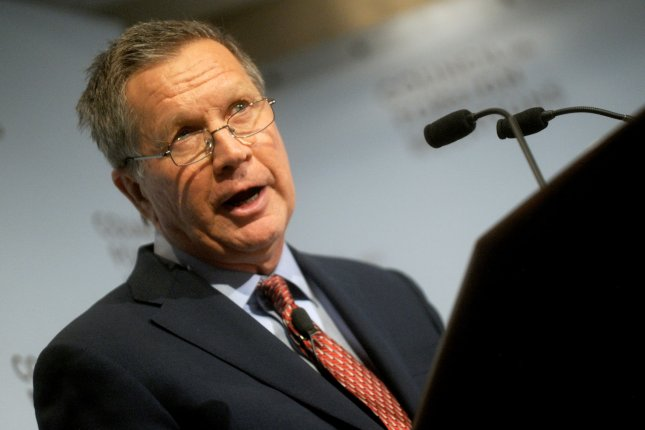 Ohio Governor and Republican Candidate for President of the United States John Kasich speaks at the Council on Foreign Relations in New York City on December 9, 2015. Photo by Dennis Van Tine/UPI