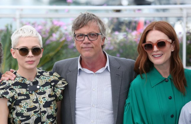 (L-R) Michelle Williams, Todd Haynes and Julianne Moore arrive at a photocall for the film Wonderstruck during the 70th annual Cannes International Film Festival in France on May 18. File Photo by David Silpa/UPI