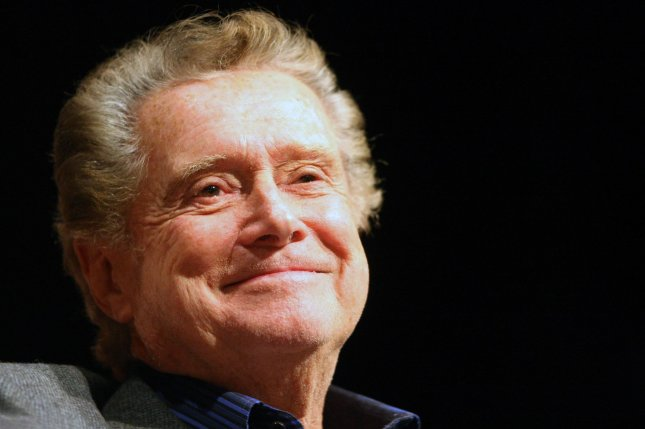 Talk show host Regis Philbin was buried in Indiana this week. File Photo by Bill Greenblatt/UPI