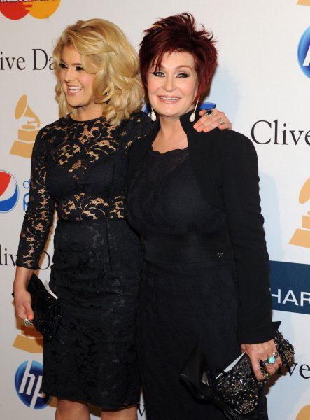 Sharon Osbourne (R) and her daughter Kelly Osbourne arrive at the Pre-Grammy Gala & Salute to Industry Icons with Clive Davis honoring David Geffen in Beverly Hills, California on February 12, 2011. UPI/Jim Ruymen