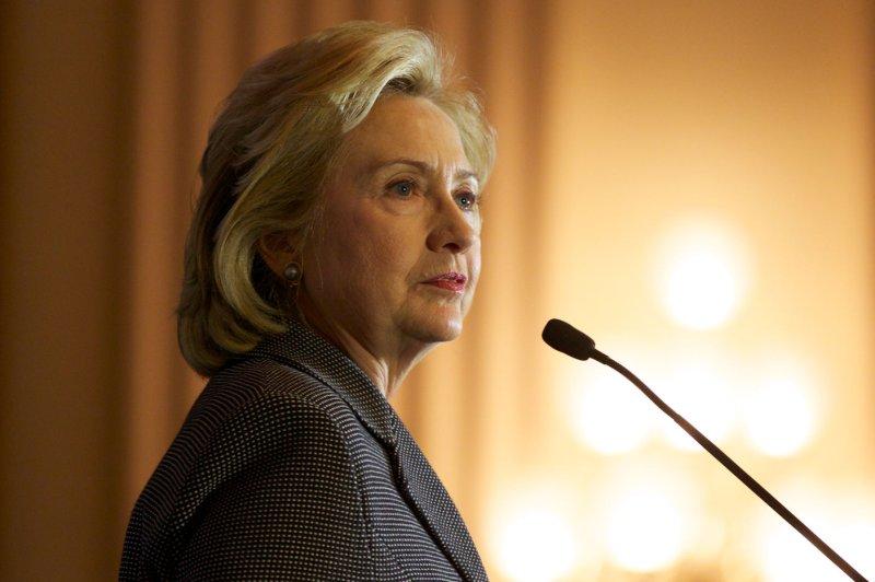 Former Secretary of State Hillary Clinton. UPI/Molly Riley