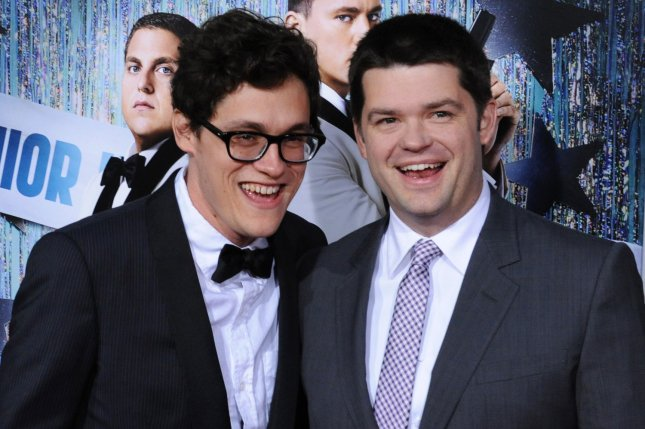 Phil Lord (L) and Christopher Miller, who co-directed the motion picture action comedy 21 Jump Street, attend the premiere of their new film at Grauman's Chinese Theatre in the Hollywood section of Los Angeles on March 13, 2012. UPI/Jim Ruymen