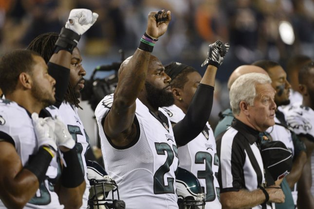 quality design d6c3c cb1e7 Watch: Malcolm Jenkins silent with reporters, has signs for ...