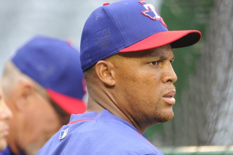 Texas Rangers slugger Adrian Beltre. File photo by Lori Shepler/UPI