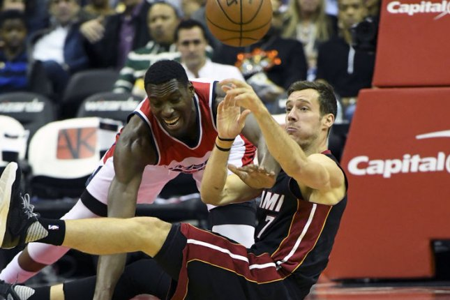Goran Dragic and the Miami Heat square off with the Indiana Pacers on Friday. Photo by Mark Goldman/UPI
