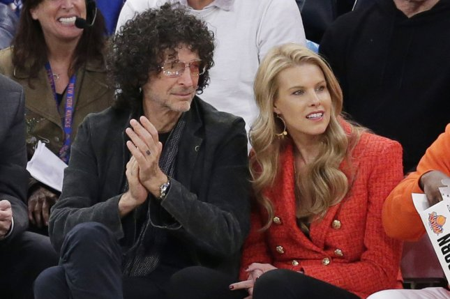 Howard Stern (L), pictured with Beth Stern, will release his first new book in over 20 years in May. File Photo by John Angelillo/UPI
