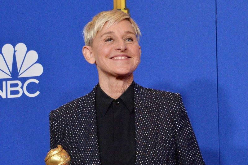 Ellen DeGeneres appears backstage after winning the Carol Burnett Award during the 77th annual Golden Globe Awards in Beverly Hills on Sunday. Photo by Jim Ruymen/UPI