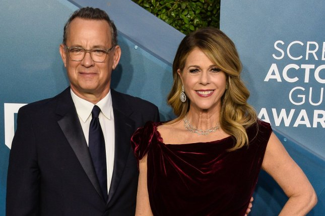 Tom Hanks and Rita Wilson thanked on social media those in Australia who are taking care of them since they were diagnosed with COVID-19 this week. File Photo by Jim Ruymen/UPI