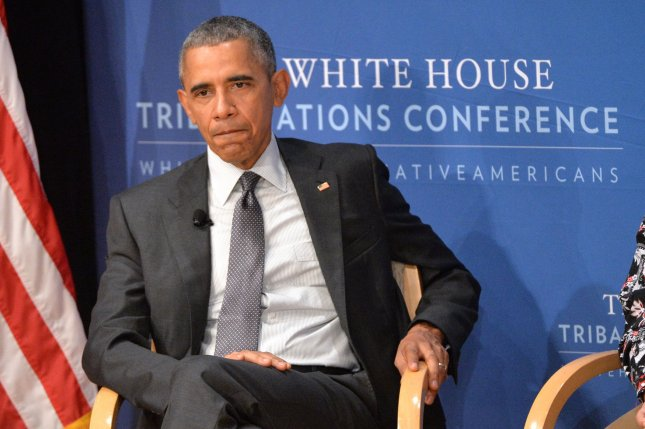 President Barack Obama, seen above participating in a panel discussion during the White House Tribal Nation's Conference, announced Friday he will reject the Keystone XL pipeline over continuing concerns of climate change. Photo by Kevin Dietsch/UPI