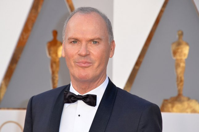 Michael Keaton arrives on the red carpet during the 88th Academy Awards on February 28, 2016. Keaton plays businessman Ray Kroc in The Founder, from The Weinstein Company. File Photo by Kevin Dietsch/UPI