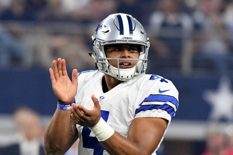 Dallas Cowboys quarterback Dak Prescott. Ian Halperin/UPI