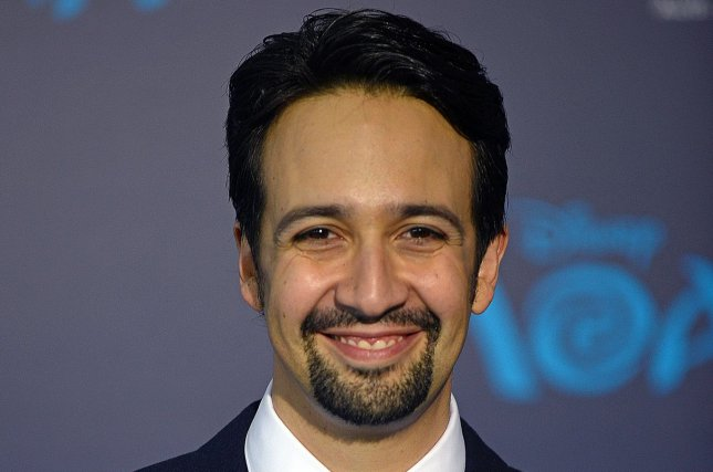 Actor and composer Lin-Manuel Miranda arrives at the world premiere of Walt Disney Animation Studios' Moana on November 14. Miranda and fellow actors and actresses including Emma Stone, Viola Davis and Michael Shannon reacted to being nominated for an Oscar. File Photo by Christine Chew/UPI
