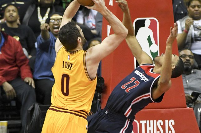 737ef6a9fce1 Cleveland Cavaliers forward Kevin Love (0) is called for a foul against  Washington Wizards forward Otto Porter Jr. (22) in the first half at the  Verizon ...