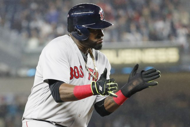 Former Boston Red Sox DH David Ortiz had plenty of thoughts on former manager Bobby Valentine in his new book. File photo by John Angelillo/UPI
