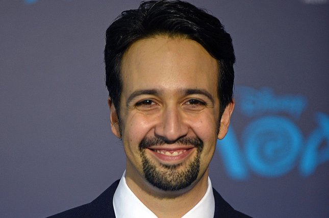 Lin-Manuel Miranda delighted fans by posting son Sebastian's response to seeing Hamilton for the first time. File Photo by Christine Chew/UPI