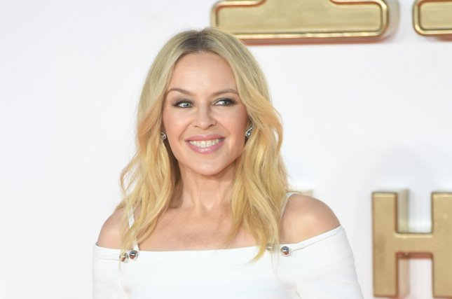 Kylie Minogue attends the premiere of Kingsman: The Golden Circle at Odeon, Leicester Square in London on September 18, 2017. The singer turns 50 on May 28. File Photo by Rune Hellestad/UPI