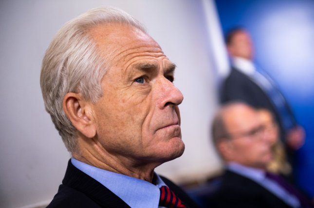 The House subcommittee on economic and consumer policy opened a probe into White House trade adviser Peter Navarro as part of a larger investigation into Trump administration contracts related to the COVID-19 pandemic. Photo by Kevin Dietsch/UPI