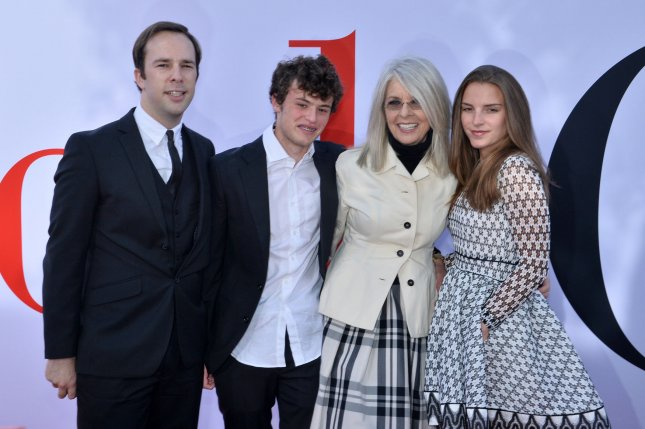 Diane Keaton's daughter Dexter (R) has announced her engagement. File Photo by Jim Ruymen/UPI