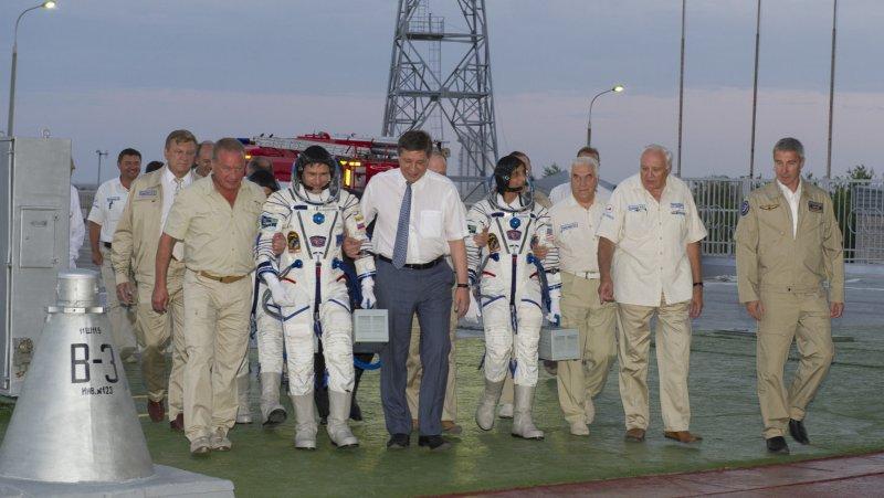 Multinational ISS crew blasts off
