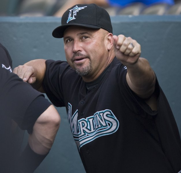 Fredi Gonzalez, shown in a 2008 file photo, was fired Wednesday as manager of the Florida Marlins. (UPI Photo/Gary C. Caskey)