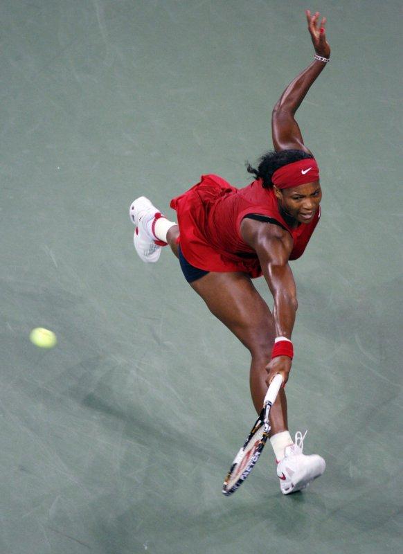 Serena Williams, shown at the U.S. Open, which she won, Sept. 7, 2008. 7, 2008. (UPI Photo/John Angelillo)