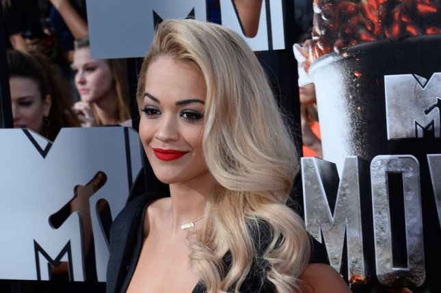 Actress Rita Ora arrives for The MTV Movie Awards at Nokia Theatre L.A. Live in Los Angeles, California on April 13, 2014. UPI/Jim Ruymen
