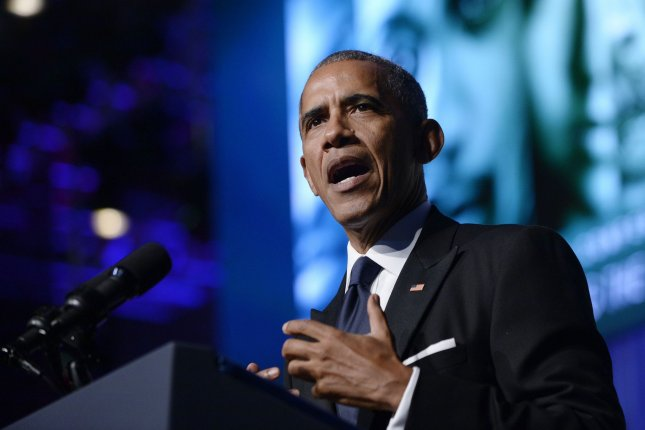 U.S. President Barack Obama speaks to the Congressional Black Caucus Foundation's 46th Annual Legislative Conference Phoenix Awards Dinner on Saturday in Washington, D.C. Pool photo by Olivier Douliery/UPI