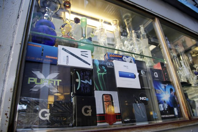 The Food and Drug Administration is being sued by seven public health groups and five pediatricians for delaying the regulation of e-cigarettes, cigars and hookah, including ones that are flavored. Photo by John Angelillo/UPI