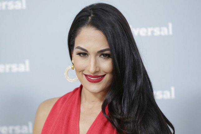 Nikki Bella arrives on the red carpet at the 2018 NBCUniversal Upfront at Radio City Music Hall on May 14, 2018 in New York City. Photo by John Angelillo/UPI