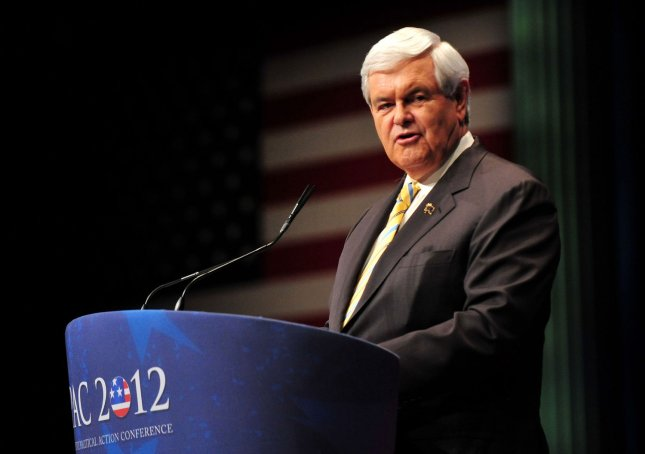 Republican presidential hopeful Newt Gingrich at the Conservative Political Action Conference on Feb. 10, 2012. UPI/Kevin Dietsch