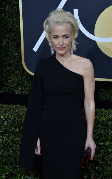 Gillian Anderson attends the 75th annual Golden Globe Awards at the Beverly Hilton Hotel in Beverly Hills, Calif., on January 7. The actor turns 50 on August 9. File Photo by Jim Ruymen/UPI
