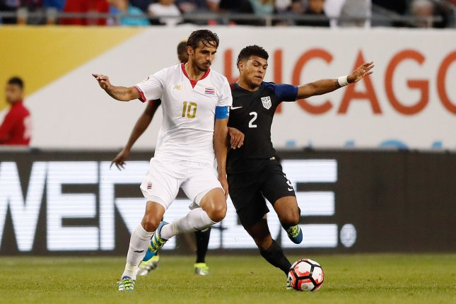 DeAndre Yedlin (2) played for the United States men's national team in the 2014 World Cup. File Photo by Brian Kersey/UPI