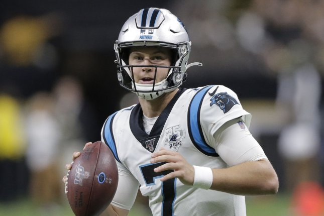 Kyle Allen was the Carolina Panthers' starting quarterback for most of the 2019 season after starter Cam Newton sustained a foot injury. File Photo by AJ Sisco/UPI