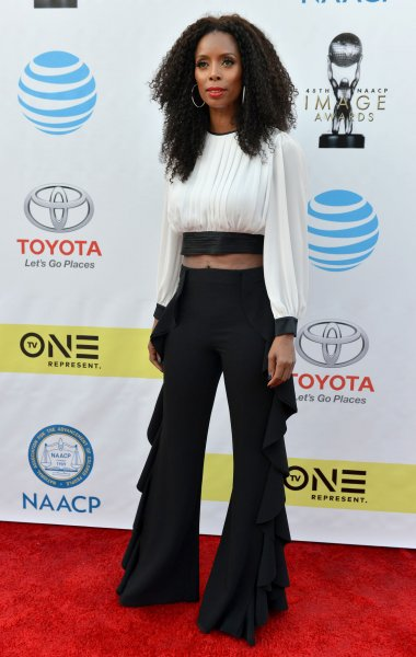 Tasha Smith arrives for the 48th NAACP Image Awards at the Pasadena Civic Auditorium in California on February 11, 2017. The actor turns 50 on February 28. File Photo by Christine Chew/UPI